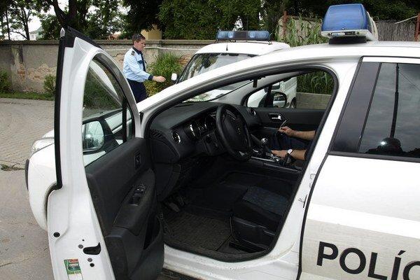 Najnovšie hliadkovacie auto mestskej polície.