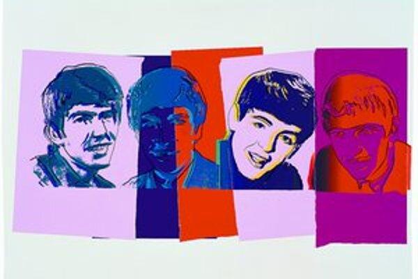 Takto videl Andy Warhol členov legendárnej britskej skupiny The Beatles.