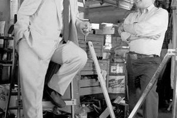 Nicholson a Scorsese pri nakrúcaní.
