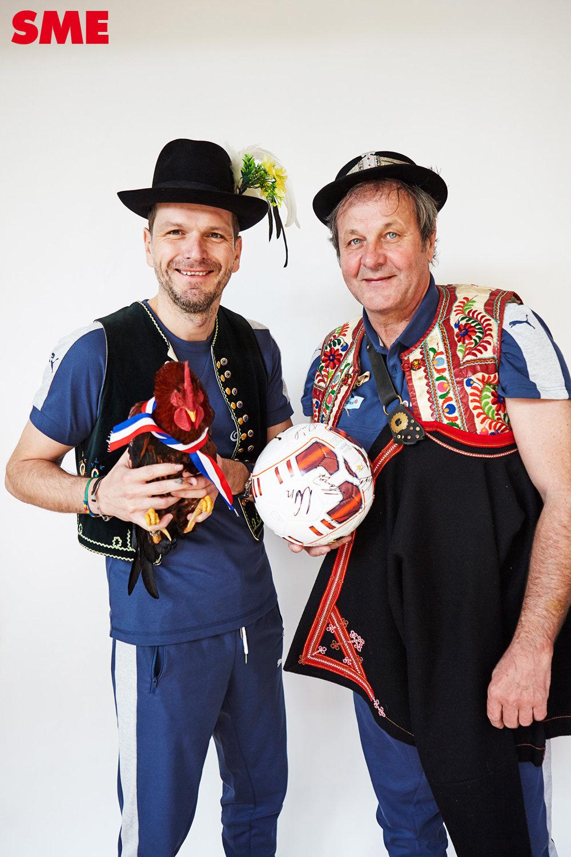 Trénerská dvojica Tarkovič a Kozák.