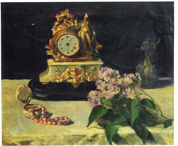 Karola mala romantickú dušu. Vtlačila ju aj do obrazu Zátišie  s hodinami.