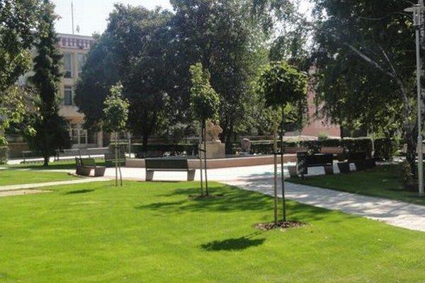 Jeden z europrojektov - revitalizácia priestoru pred mestskou poliklinikou.