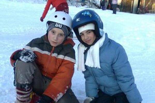 Zábavu na snehu si užili.