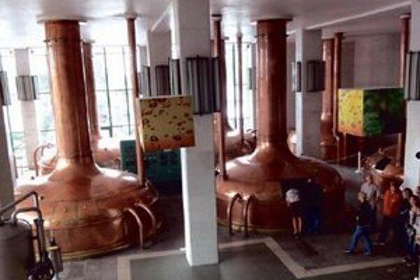 Záber z interiéru pivovaru.