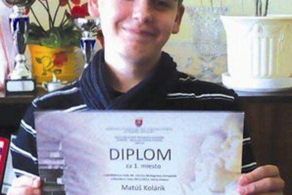 Matúš Kolárik je víťaz celoštátnej olympiády