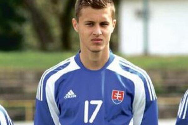 Viktor Král v drese Slovenska.