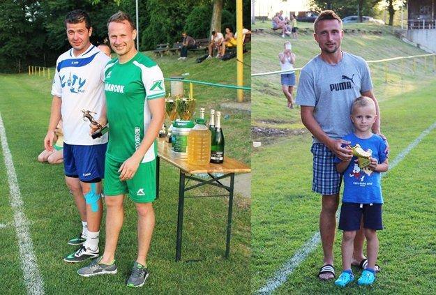 Vľavo (v zelenom) najlepší hráč Zoltán Gyepes, vpravo najlepší strelec Daniel Koprda.