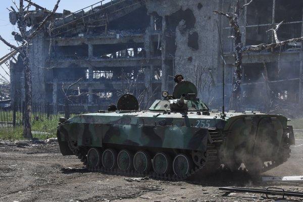 Frontová línia v Donecku (ilustračné foto).