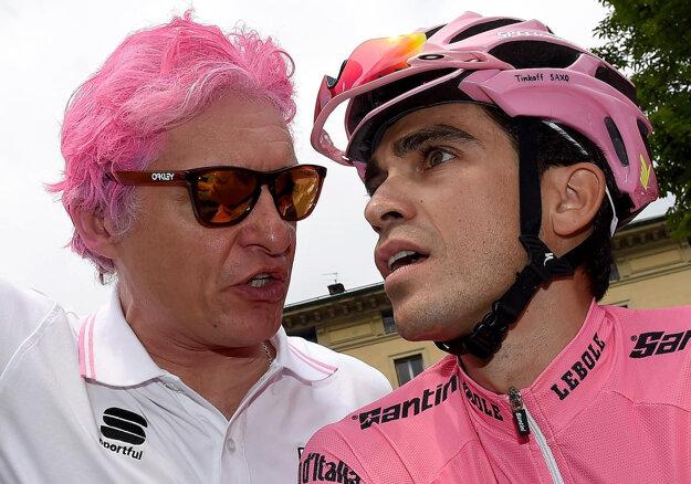 Oleg Tiňkov (vľavo) a Alberto Contador chcú dosiahnuť ďalší úspech.