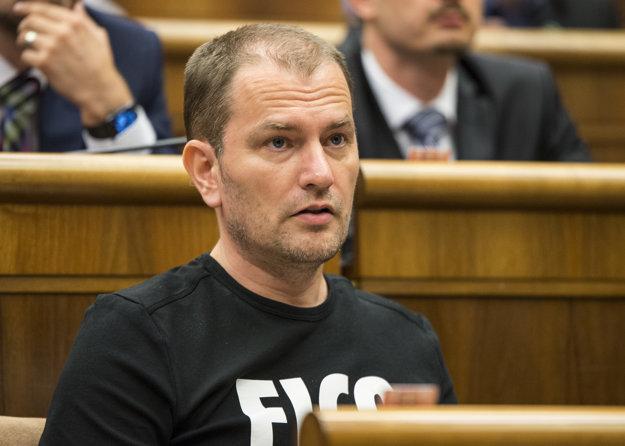 Igor Matovič v parlamente.