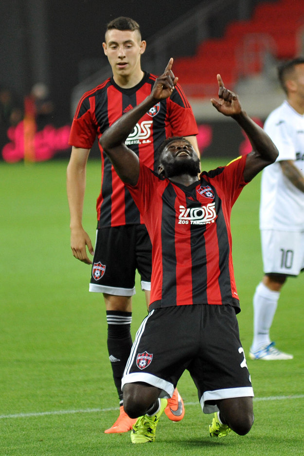 Róbert Ndip Tambe sa proti Hibernians blysol dvomi gólmi.