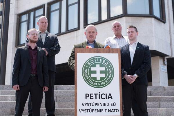 Líder Ľudovej strany Naše Slovensko Marian Kotleba.