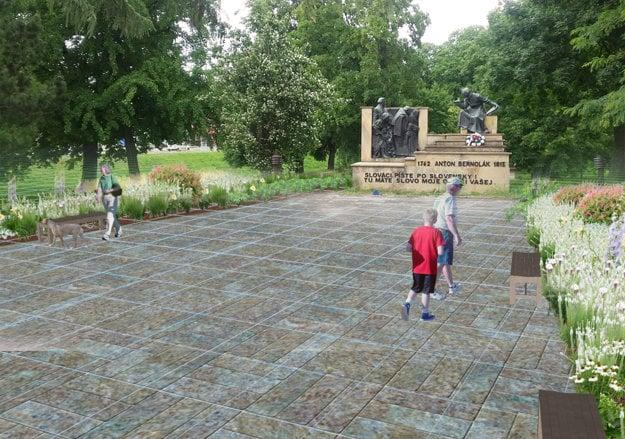 Takto by mohlo vyzerať okolie pamätníka.