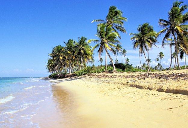 Pláž v Dominikánskej republike.