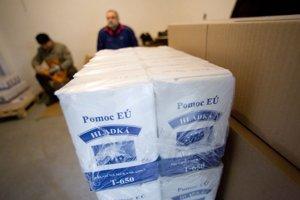Ľudia v najhoršej sociálnej situácii môžu využiť pomoc Potravinovej banky Slovenska.
