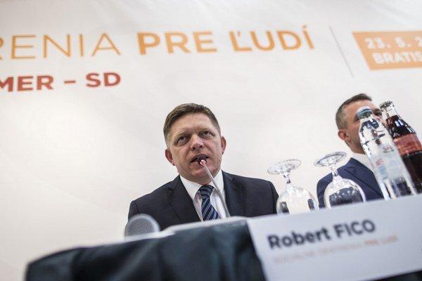 Robert Fico na pracovnom sneme strany Smer.