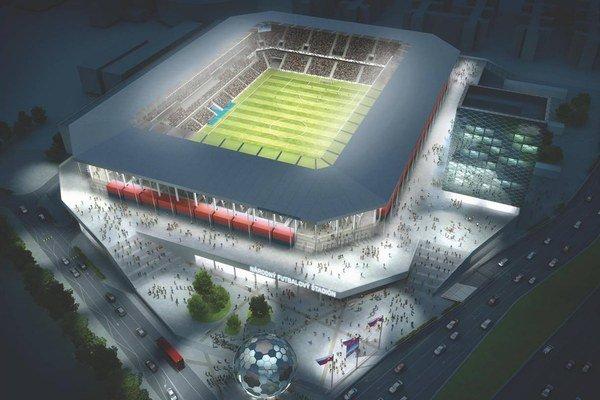 Takto mal vyzerať Národný futbalový štadión, ak by ho staval Kmotrík.