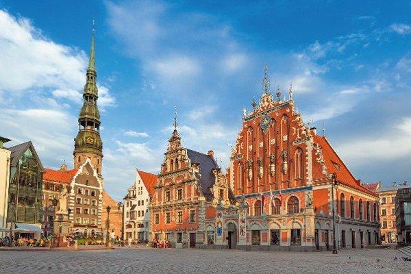 Námestie v hlavnom meste Lotyšska Rige