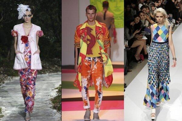 Zľava: Chanel, Versace, Yoko Sakai