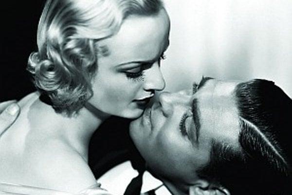 Clark Gable so svojou treťou manželkou herečkou Carol Lombardovou. Tragicky zahynula v roku 1942