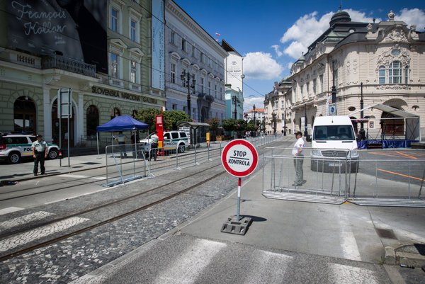 Reduta na námestí Ľudovíta Štúra je hlavným kongresovým centrom predsedníctva SR v Rade EÚ.