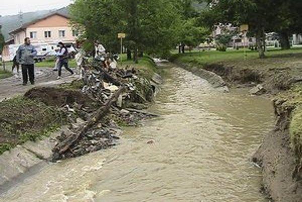 Následky búrky v Ondavských Matiašovciach.