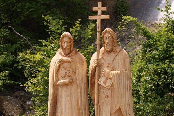 Nový monument. Pripomína pamiatku sv. Cyrila a Metoda.