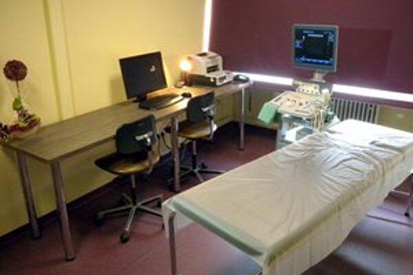 Priestory Rádiologického oddelenia po rekonštrukcii, kde je umiestnený nový ultrazvuk.