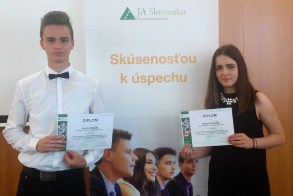 Andrej Sobota a Helena Ďurišová získali so svojím projektom tretie miesto.