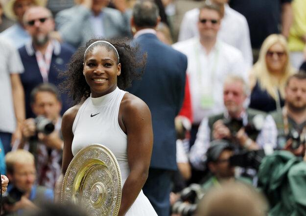 Serena ovládla Wimbledon už siedmykrát.