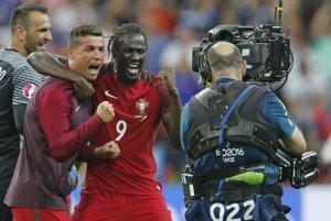 Ronaldo (vľavo) musel z finále odstúpiť predčasne. Eder zastúpil jeho úlohu hrdinu.