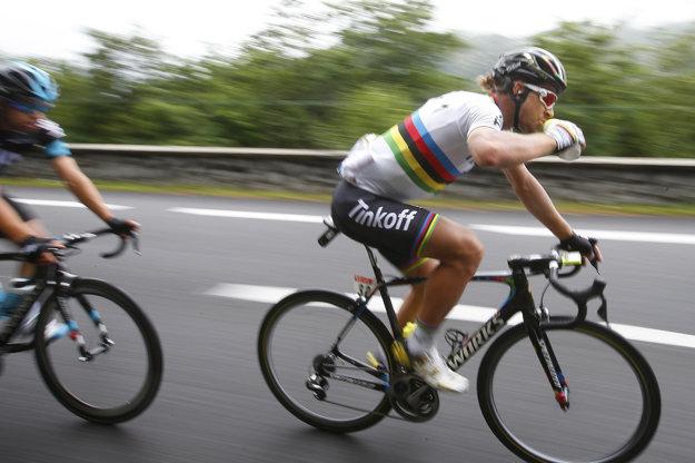 Peter Sagan bol v utorok najaktívnejším jazdcom etapy.