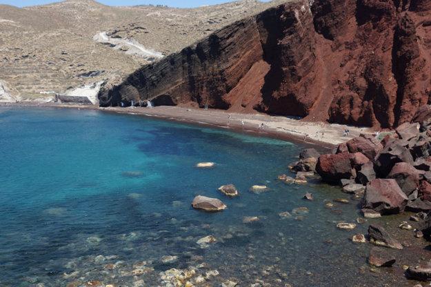 Vo svete je veľmi populárna grécka nuda pláž Red Beach.