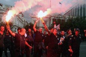 Jedna z demonštrácií v Aténach.