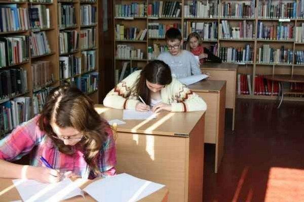 Súťaž. Školáci plnili viaceré úlohy.