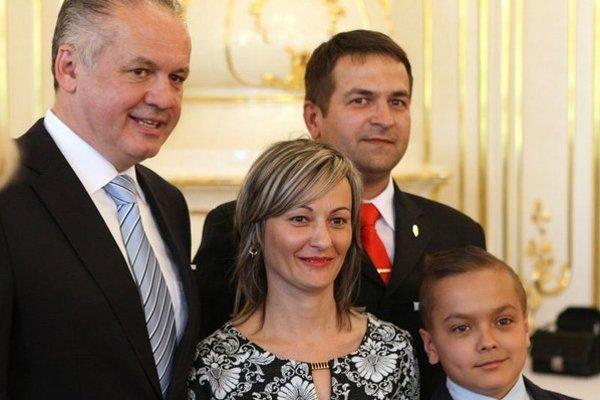 Záchranca. Pavla Gaborčáka spolu s rodinou prijal prezident Kiska.