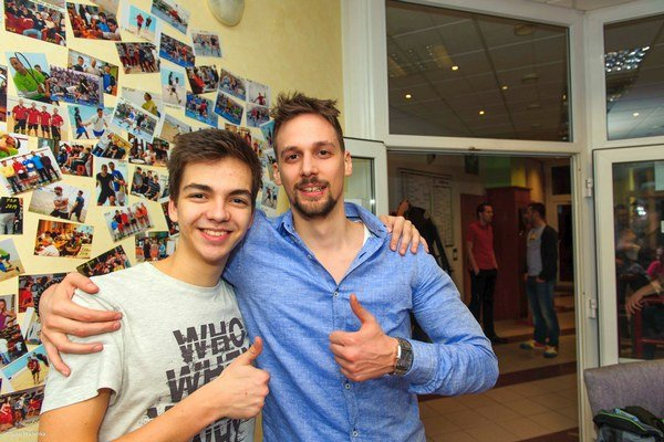 Ľubovňan sa učí od najlepších. Peter Bálint (vľavo) amajster SR Miroslav Celler.