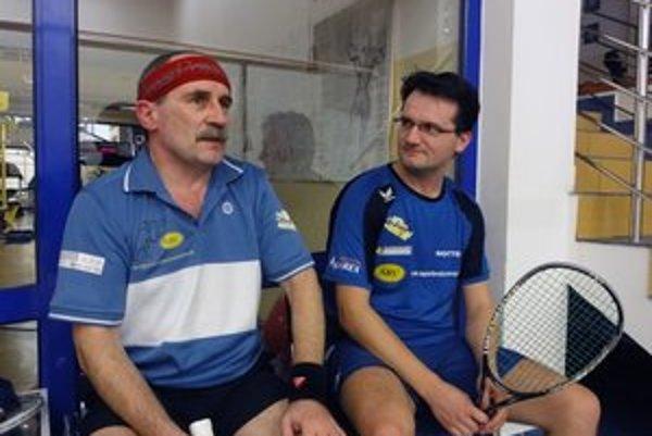 Tibor Alexik (vľavo) a Maroš Zima. Hráči, ktorí spolu s Krettom a Kaletom nastúpili v sobotňajších dueloch.