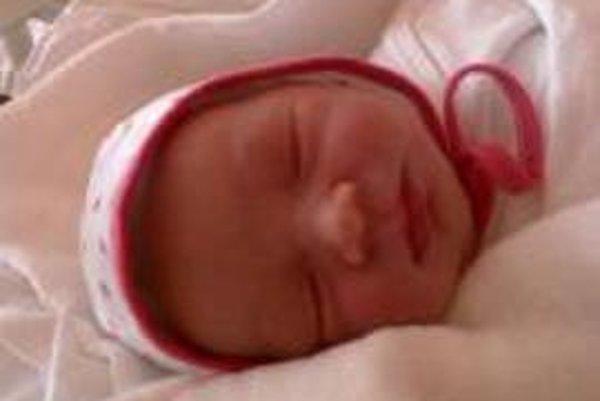 Malá Emka prišla na svet v Ľubovnianskej nemocnici na Nový rok.