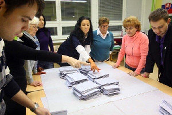Sčítanie hlasov budú zabezpečovať okrskové alebo miestne komisie.