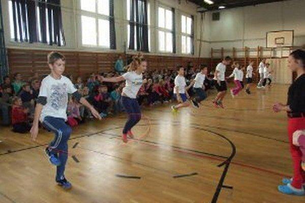 Žiaci počas súťaže absolvovali niekoľko disciplín.