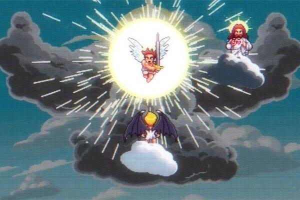 Anjeli bojujú vo vtipnom animovanom videoklipe.