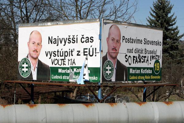 Kotleba sa netají negatívnym postojom proti Európskej únii a NATO.