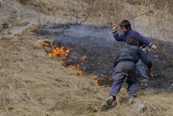 Vypaľovanie trávy je zakázané a hrozí zaň pokuta.