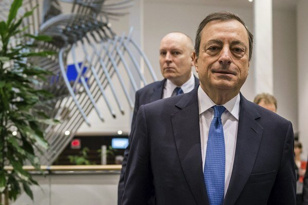 Guvernér Európskej centrálnej banky Mario Draghi.