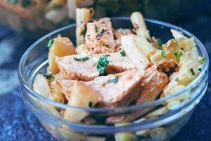 Fazuľkový šalát s grilovaným kuracím mäsom