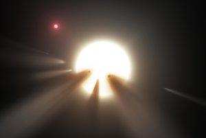 KIC 8462852 na vizualizácii NASA.