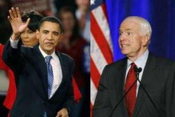 Favoriti Barack Obama a John McCain.
