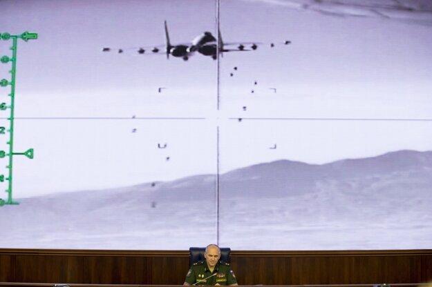 Generál Rudskoj informuje o ruských aktivitách v Sýrii.