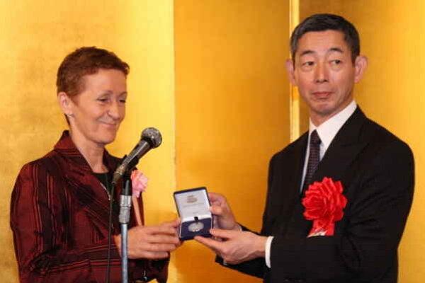 Mária Poldaufová. V Tokiu si prevzala prvú cenu.
